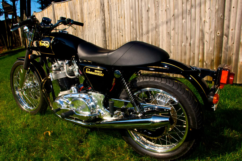 Norton Commando 850 fully restored.